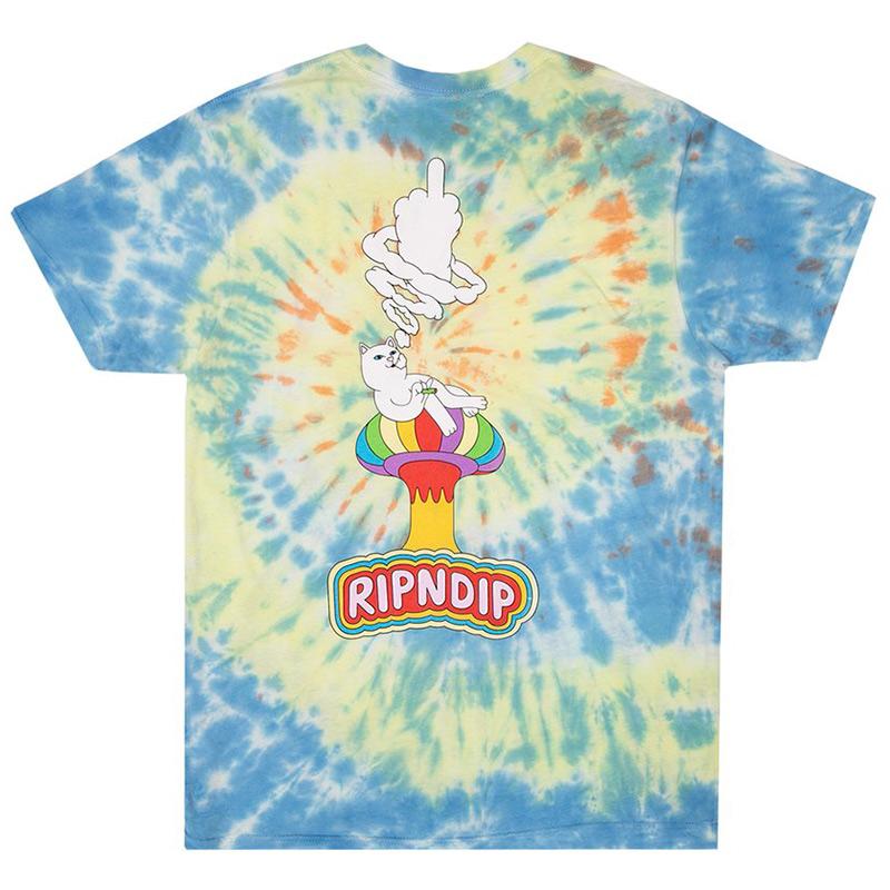 RIPNDIP Smokin T-Shirt Multi Tie Dye