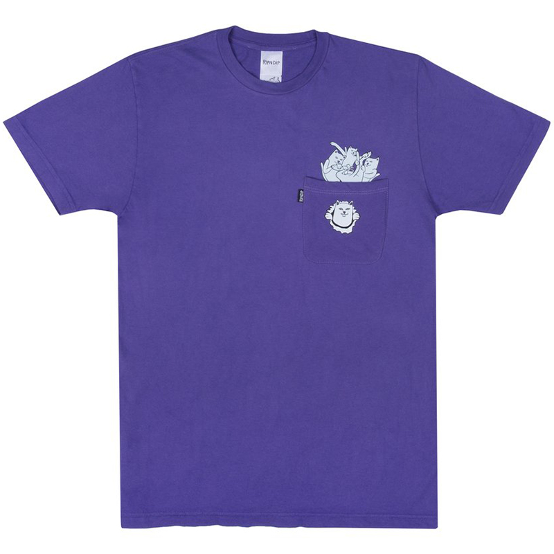 RIPNDIP Stuffed T-Shirt Purple