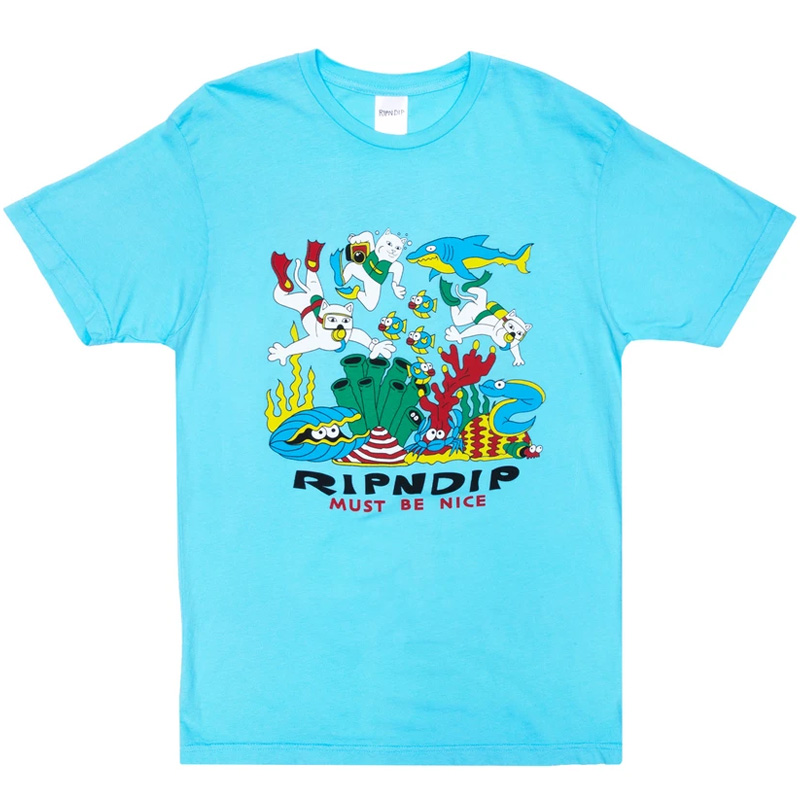 RIPNDIP Under The Sea T-Shirt Baby Blue
