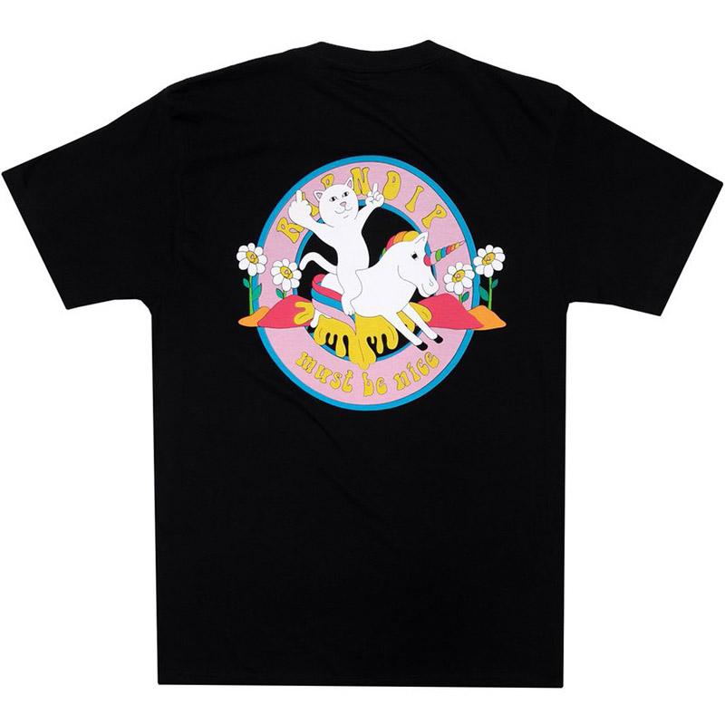 RIPNDIP Unicorn Rider T-Shirt Black
