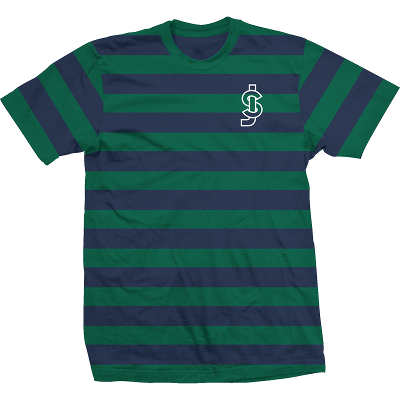 Shake Junt Freddy Striped T-Shirt Blue/Green