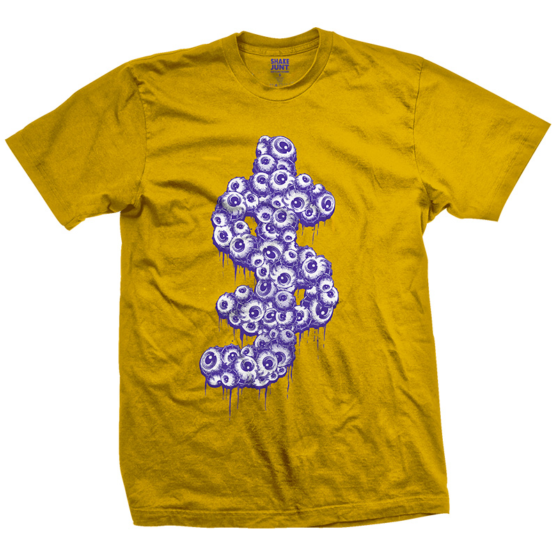 Shake Junt SJ Eyeballs T-Shirt Gold