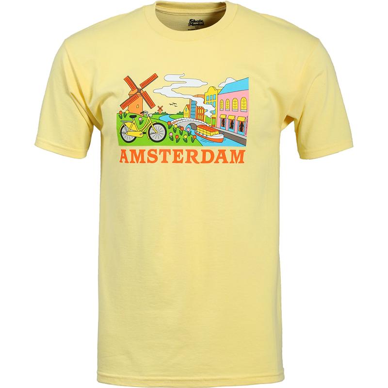 Skate Mental Amsterdam Tourist T-Shirt Banana