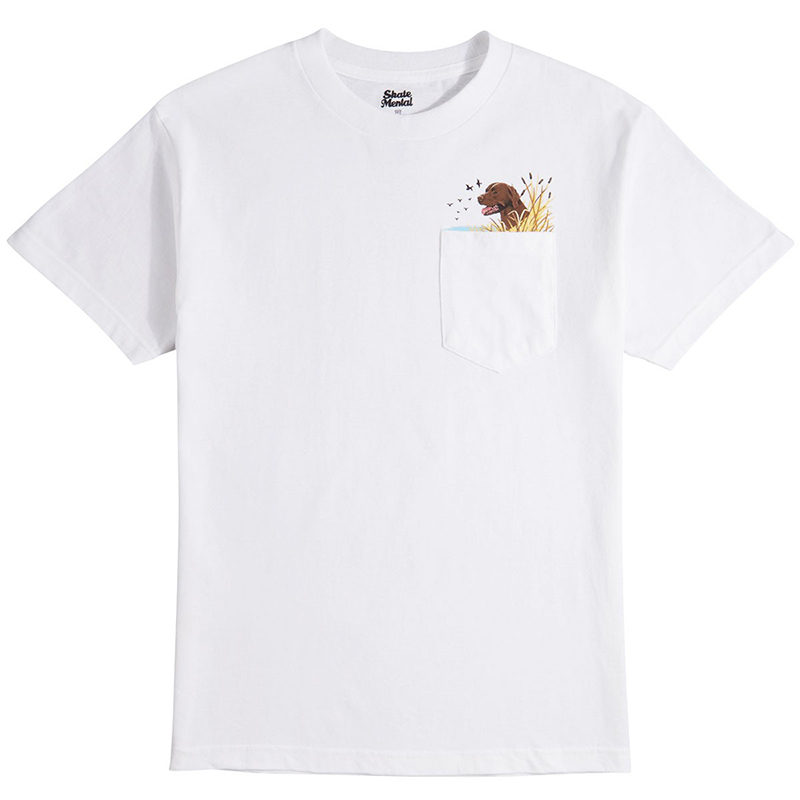 Skate Mental Lab Pocket T-Shirt White