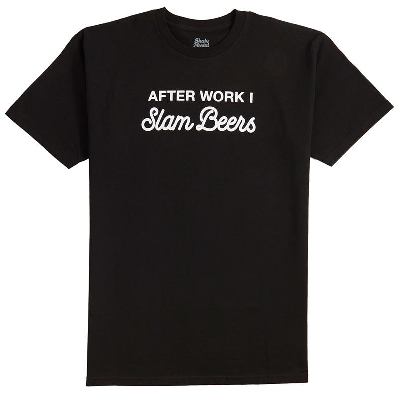 Skate Mental Slam Beers T-Shirt Black