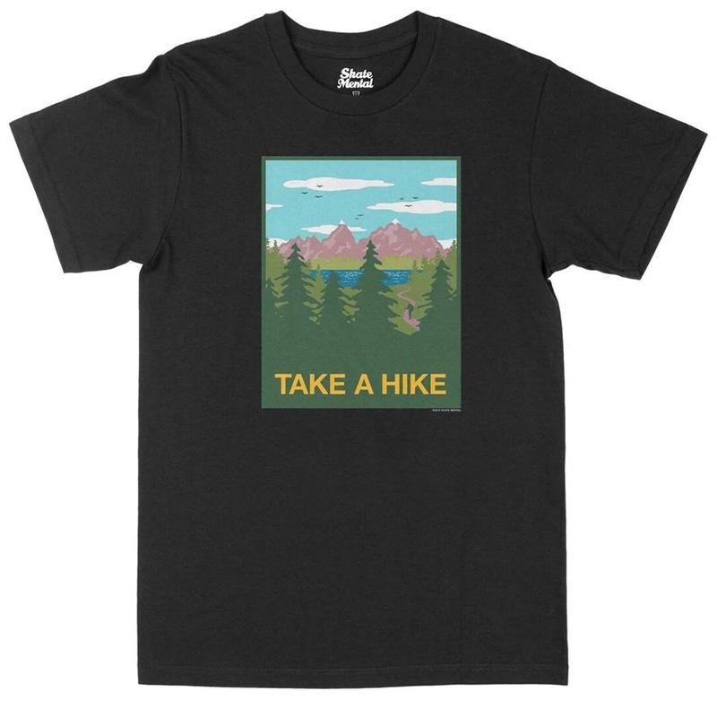 Skate Mental Take A Hike T-Shirt Black