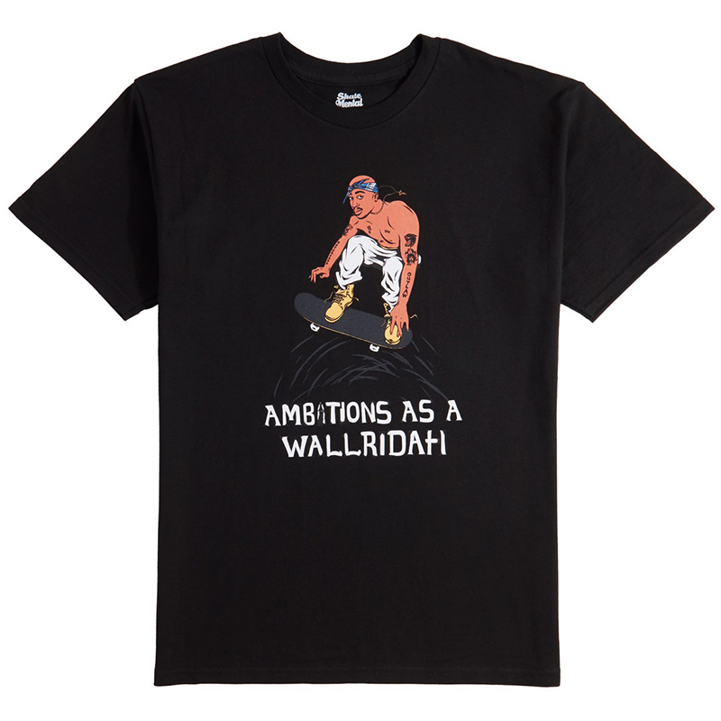 Skate Mental Wallridah T-Shirt Black
