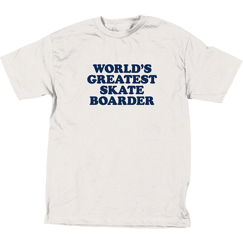 Skate Mental World's Greatest Skateboarder T-Shirt White