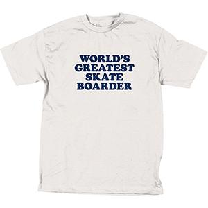 Skate Mental World's Greatest Skateboarder T-Shirt White