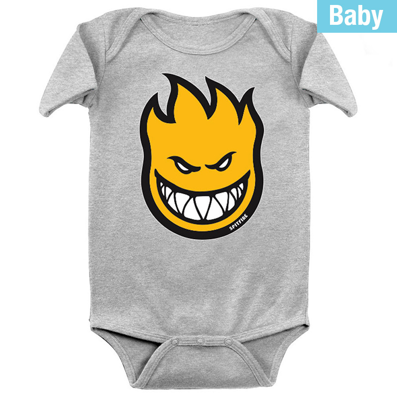 Spitfire Baby Bighead Fill Onesie Athletic Heather /Yellow