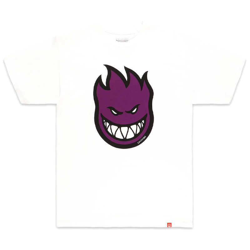 Spitfire Bighead Fill T-Shirt White/Purple