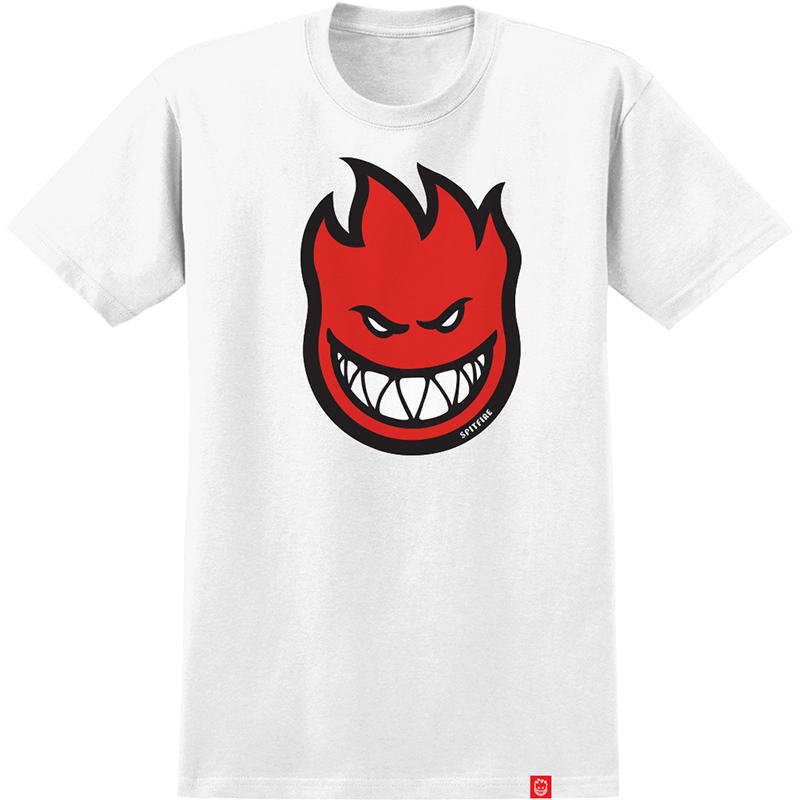 Spitfire Bighead Fill T-Shirt White/Red