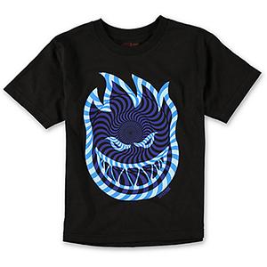 Spitfire Bighead Swirl T-Shirt Black/Blue