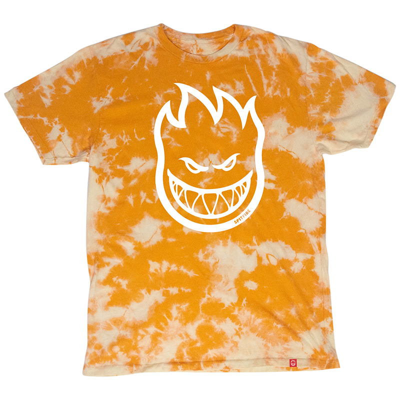 Spitfire Bighead T-Shirt- Specialty Body Orange Wash