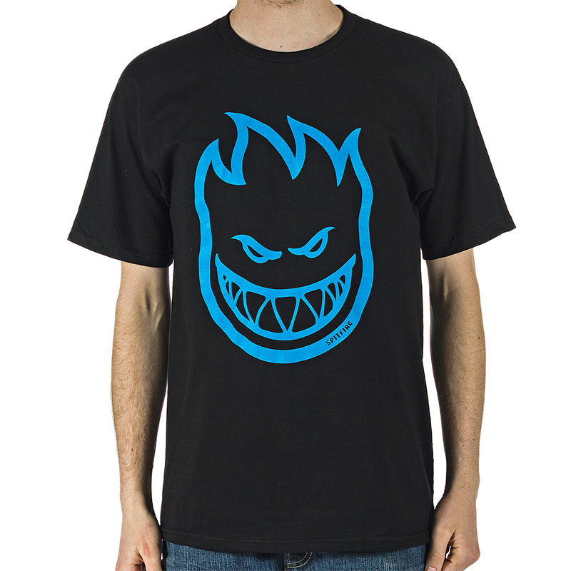 Spitfire Bighead T-Shirt Black/Blue