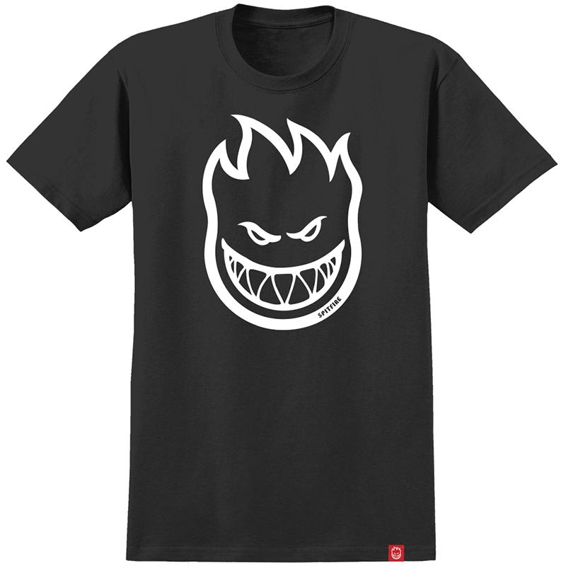 Spitfire Bighead T-Shirt Black/White