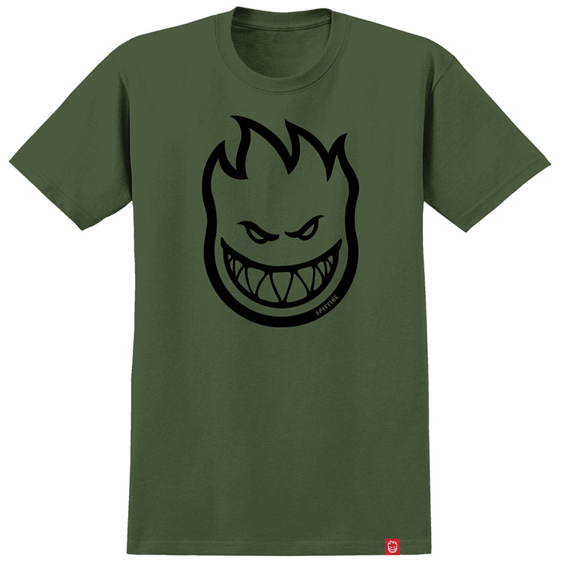 Spitfire Bighead T-Shirt Military Green/Black