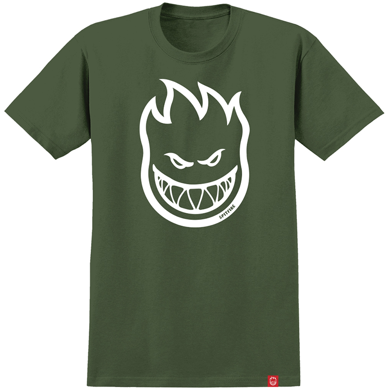 Spitfire Bighead T-Shirt Military Green/White