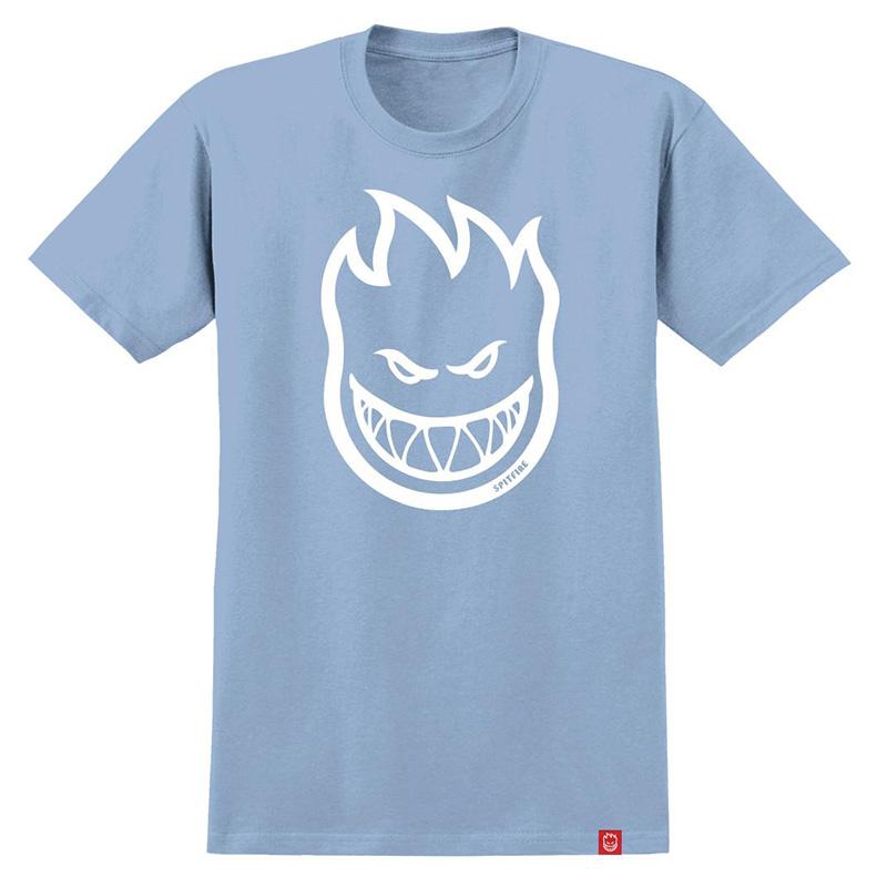 Spitfire Bighead T-Shirt Powder Blue /White