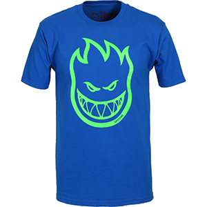 Spitfire Bighead T-Shirt Royal/Neon Green