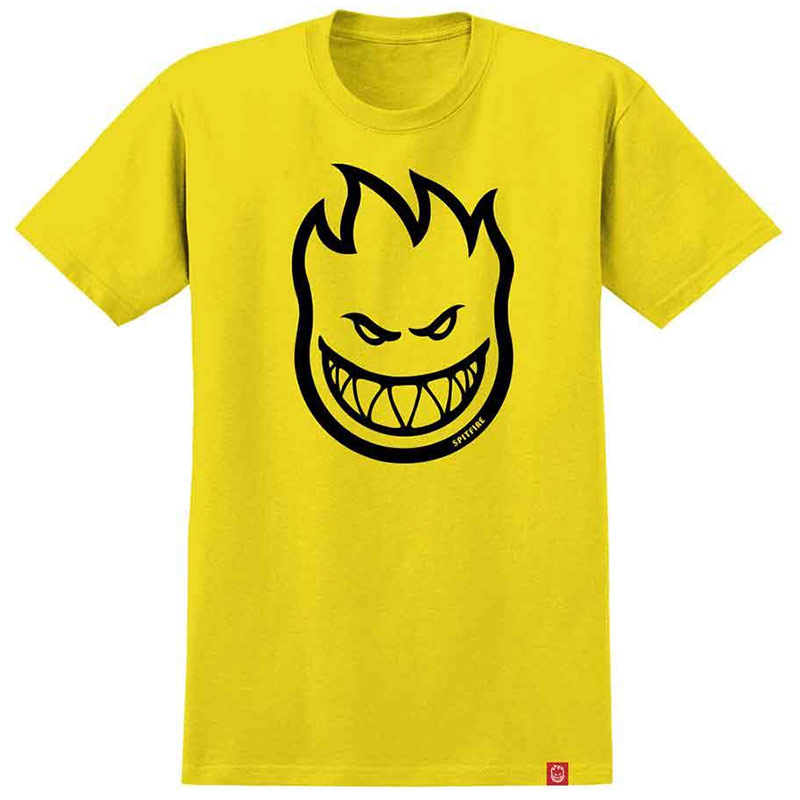 Spitfire Bighead T-Shirt Yellow /Black