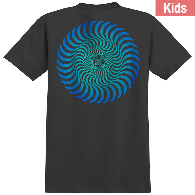 Spitfire Kids Classic Swirl Fade T-Shirt Black/Blue