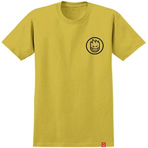Spitfire Classic Swirl T-Shirt Mustard/Black