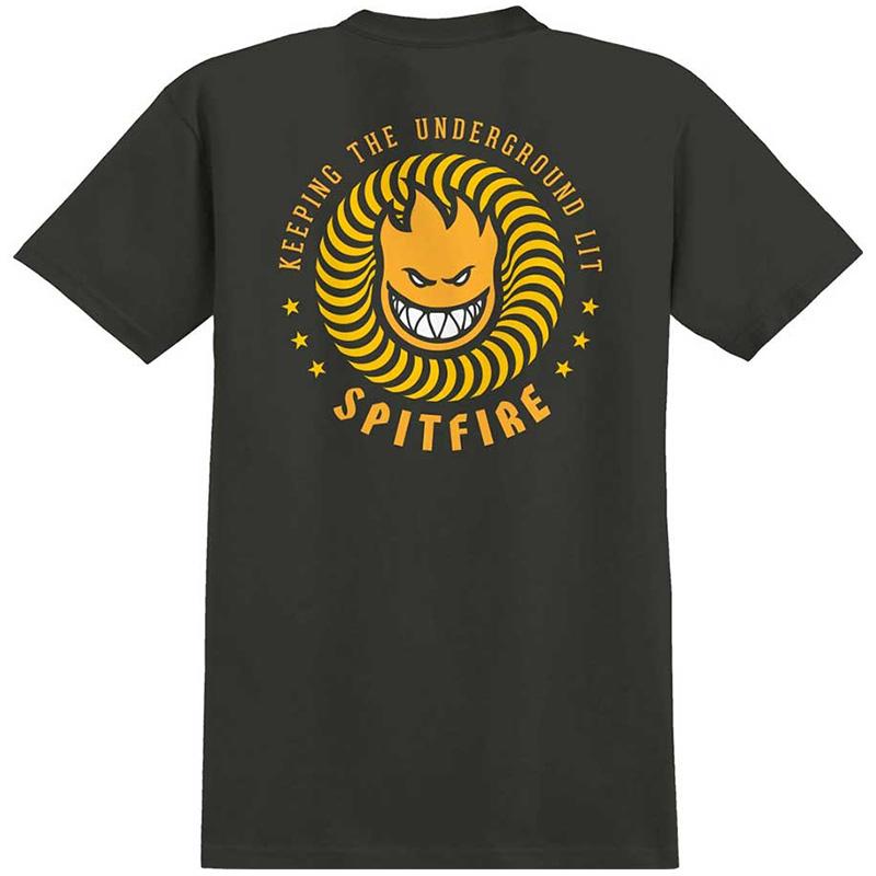 Spitfire K.T.U.L T-Shirt Tar/Orange/Yellow