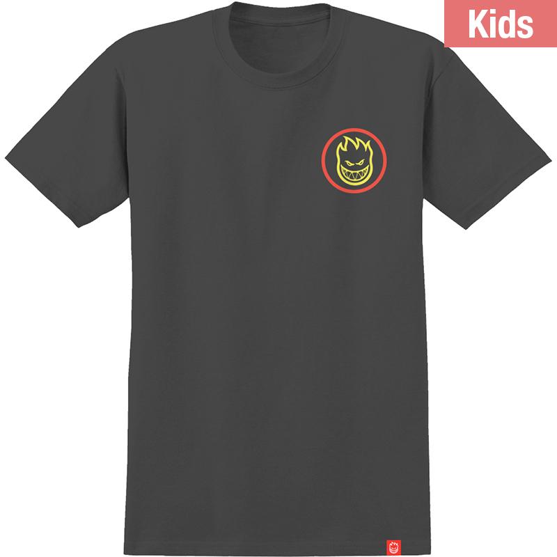 Spitfire Kids Classic Swirl Fade T-Shirt Black/Red/Yellow