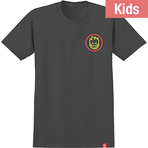 Spitfire Kids Classic Swirl Fade T-Shirt Black/Red/Yellow