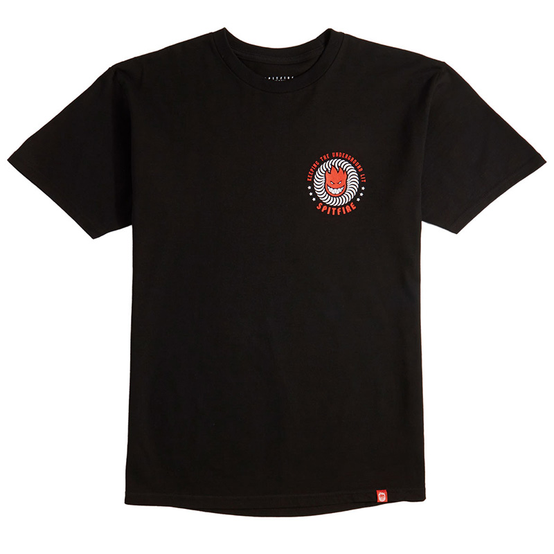 Spitfire KTUL T-Shirt Black/Red/White