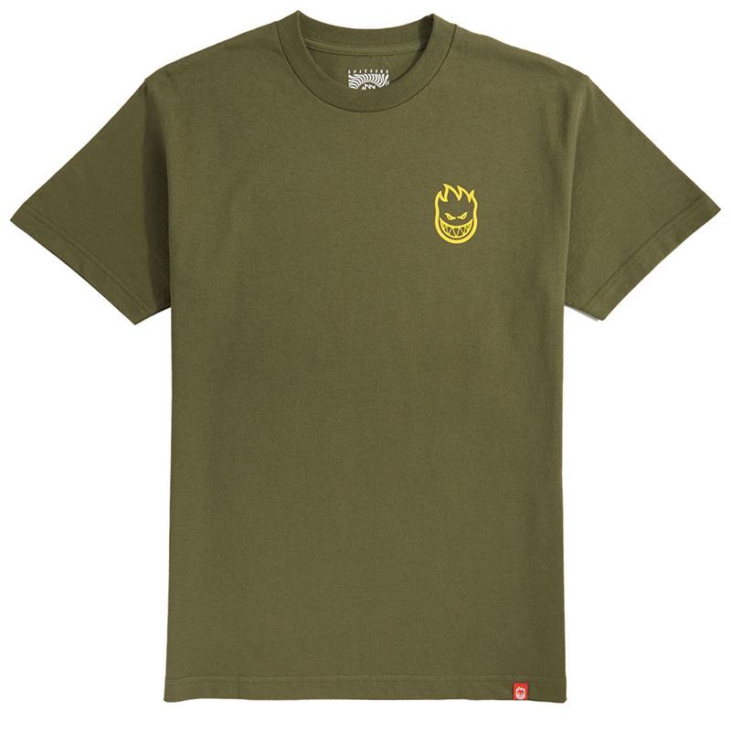 Spitfire Lil Bighead T-Shirt Military Green /Yellow