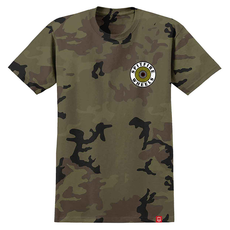 Spitfire Og Circle Specialty T-Shirt-Body Camo /White Yellow Red