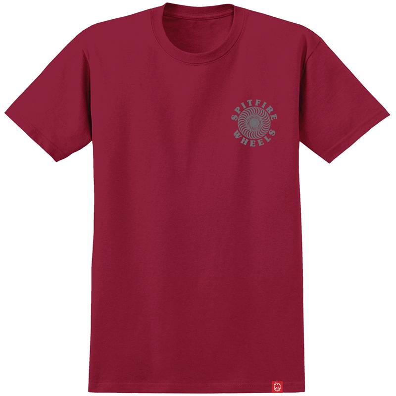 Spitfire Og Classic T-Shirt Cardinal/Grey