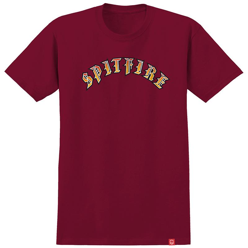 Spitfire Old E T-Shirt Cardinal