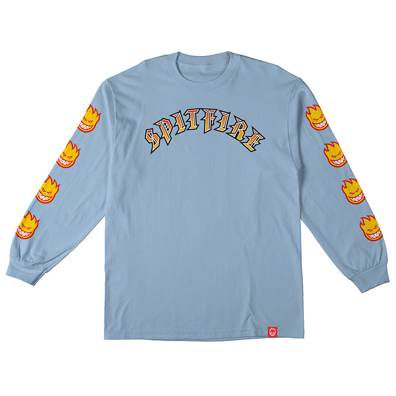 Spitfire Olde E Bighead Fill Sleeve Longsleeve T-Shirt Powder Blue