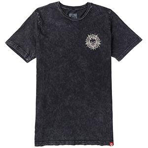Spitfire Pentaburn Double T-Shirt Black Mineral Wash Discharge