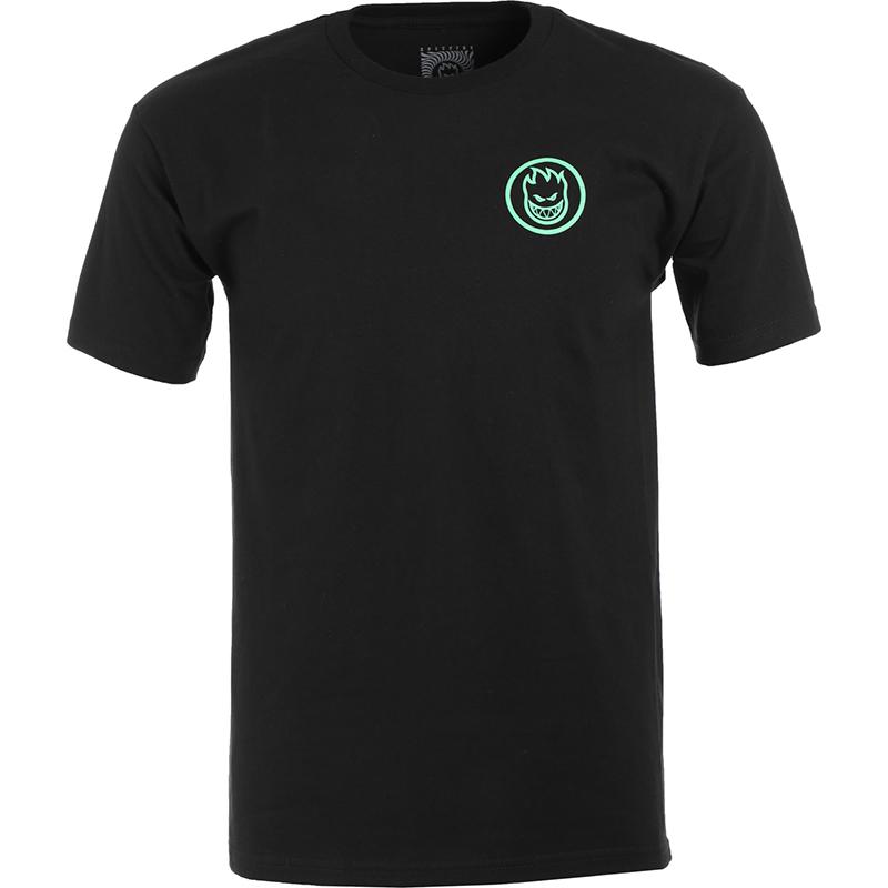Spitfire Retro Classic T-Shirt Black/Glow