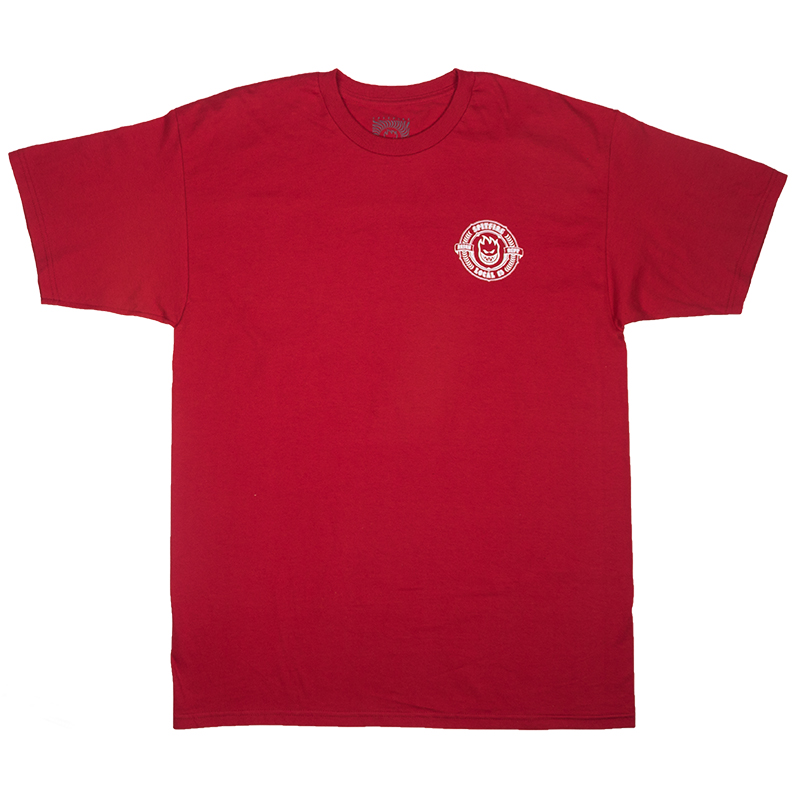 Spitfire X Skatestore Arson Department T-Shirt Burgundy