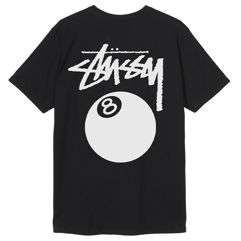 Stussy 8 Ball Pig. Dyed T-Shirt Black