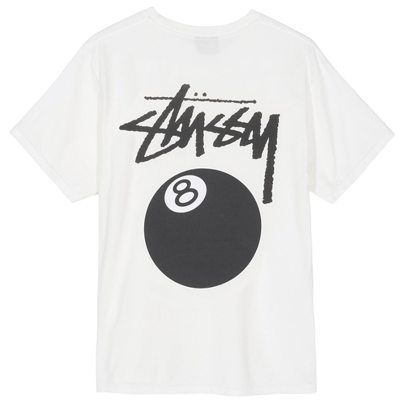 Stussy 8 Ball Pig Dyed T-shirt Natural