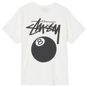 Stussy 8 Ball Pig Dyed T-shirt Natural