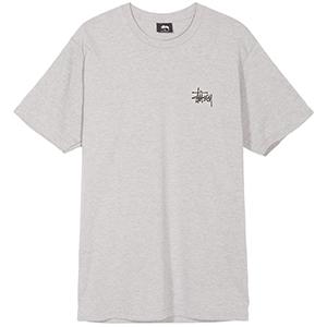 Stussy Basic Stussy T-Shirt Grey Heather