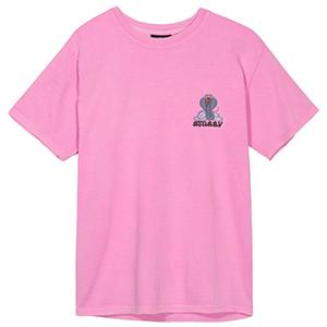 Stussy Cobra Daze Pig. Dyed T-Shirt Pink