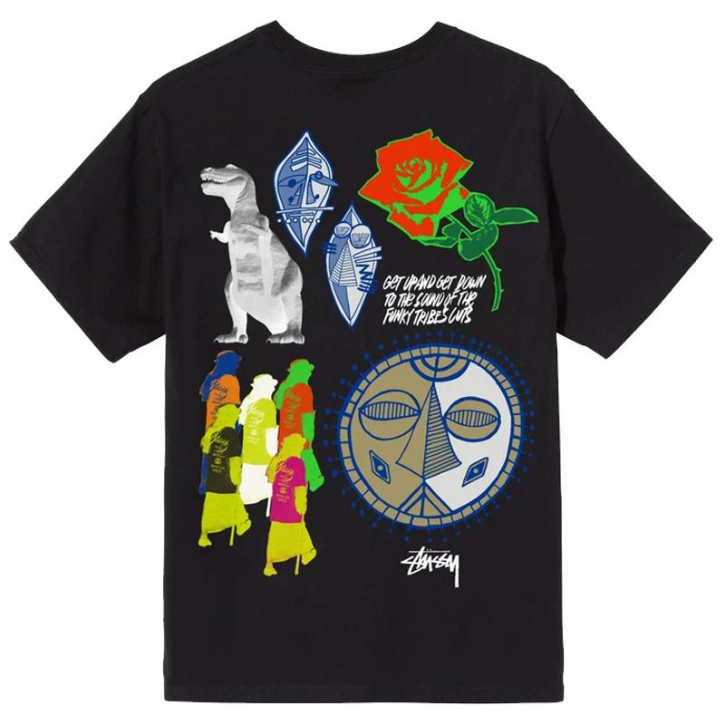 Stussy Funky Tribe T-Shirt Black