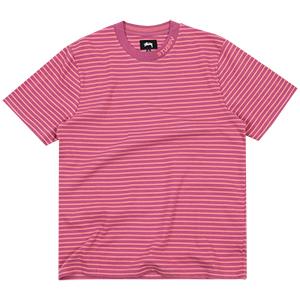 Stussy Jack Stripe T-Shirt Berry