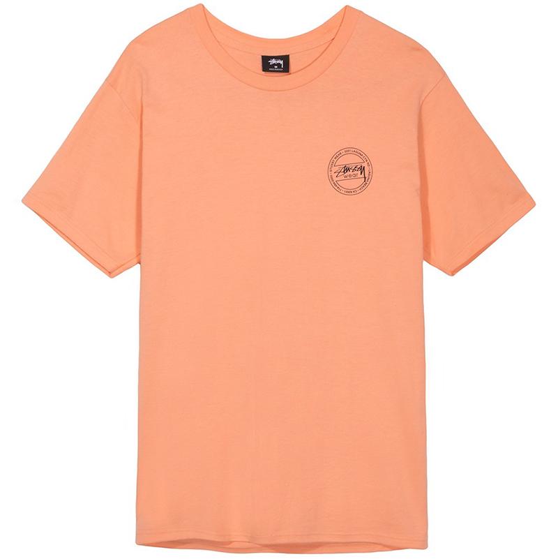 Stussy Laguna Dot T-Shirt Salmon