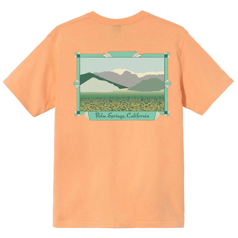 Stussy Palm Springs T-Shirt Peach