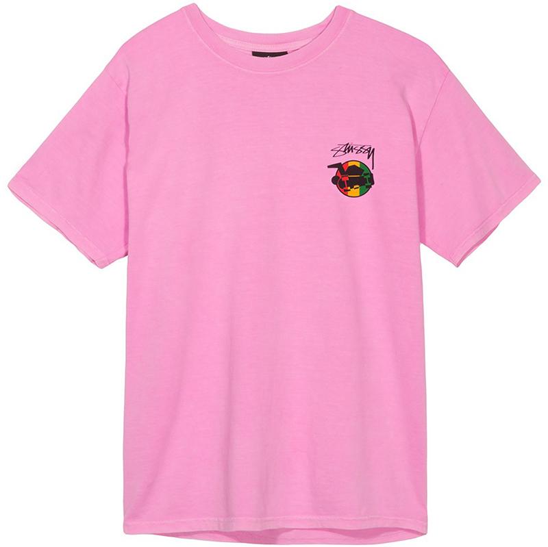 Stussy Rasta Sk8 Pig. Dyed T-Shirt Pink