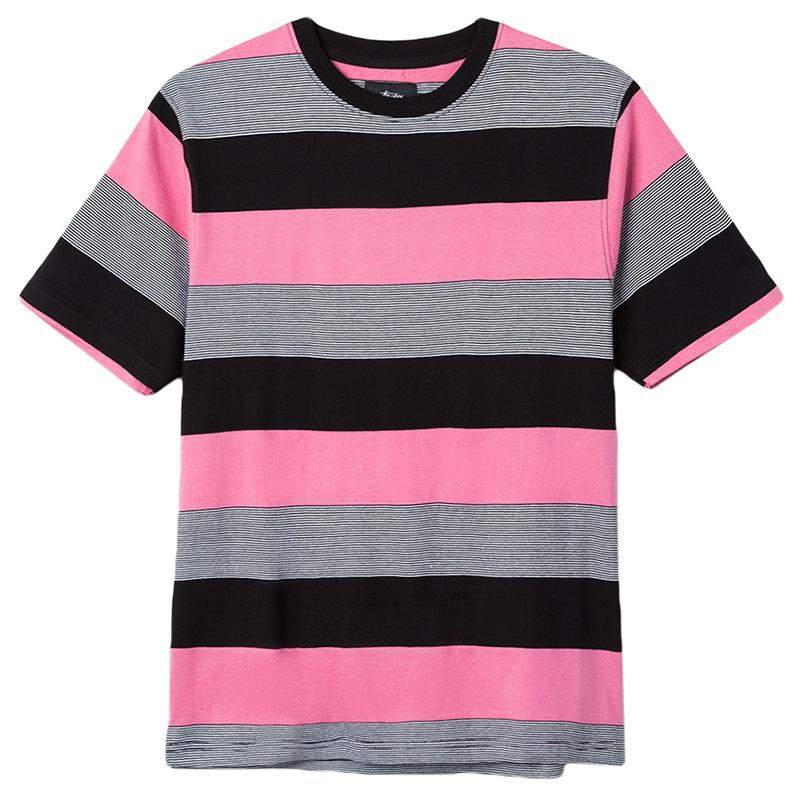 Stussy Sidney Stripe T-Shirt Rose
